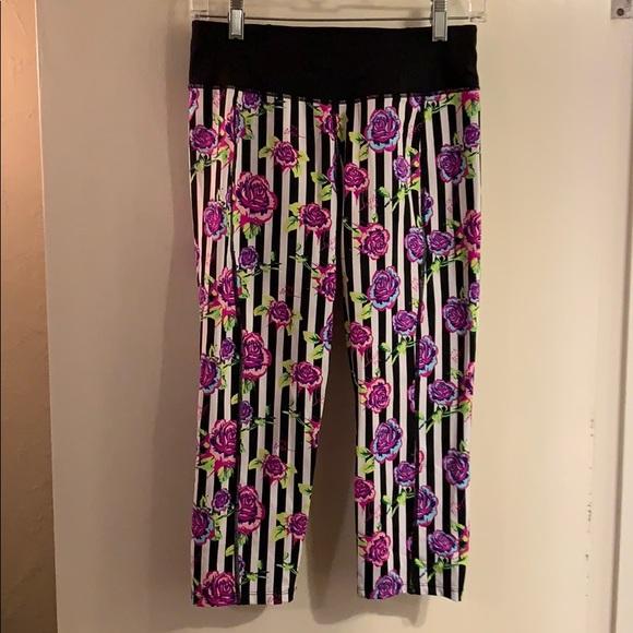 b9522b16d5ac49 Betsey Johnson Pants   Betsy Johnson Performance Flowered Striped ...